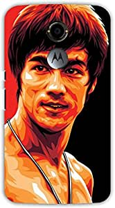 Crazy Beta Bruce lee the kungfu fighter Printed mobile back cover case for Motorola Moto X2