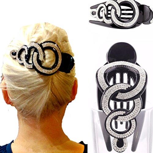 cuhair 1Stück Fashion Strass Kristall Damen Mädchen Haar Klauen Haar Clip Haarspange Haar Zubehör