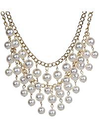 Yazilind elegant style Tout-Match alliage de bronze de Chevron V collier Forme foulard de collier femmes