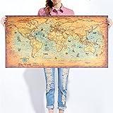 Grande mappa del mondo vintage carta kraft Paint retro navigazione antica vela mappa poster da parete soggiorno Art Crafts Maps Cafe bar pub Home Decor (99,1x 48,3cm/100cmx50cm), Carta, world map, 39.4-Inches x 19.7-Inches