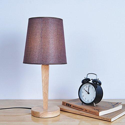 LED Tischleuchte Tischleuchte, Nordic Wood Art Kreative Mode Schreibtischlampe mit Handarbeit zum Lesen, Studieren, Arbeiten,2