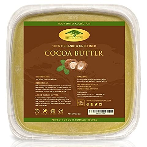 (907g) Bulk Raw Cocoa Butter with RECIPE EBOOK - Perfect