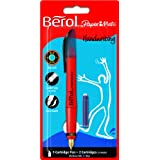 Berol Handwriting Fountain Pen Medium Nib - Blue