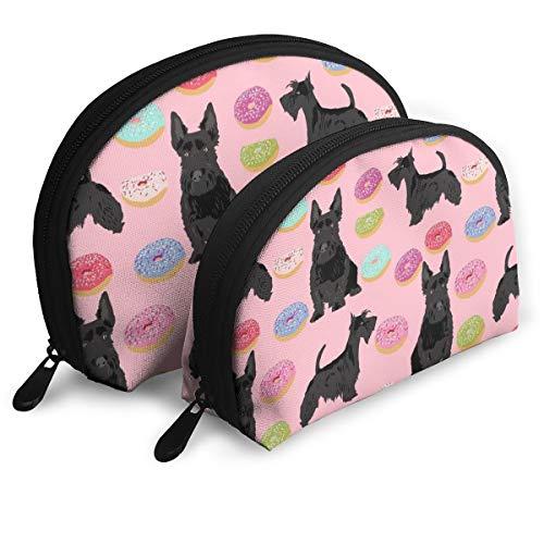 Scottie Donuts Pouch Zipper Toiletry Organizer Travel Makeup Clutch Bag Portable Bags Clutch Pouch Storage Bags -