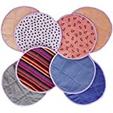 Cloth Architect Cotton Round Roti/Chapati Covers (Set of 4 = 4 X Top and 4 X Bottom)