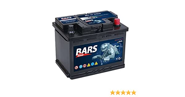 Bars Silver Autobatterie 12v 60ah 570a Starterbatterie Wartungsfrei