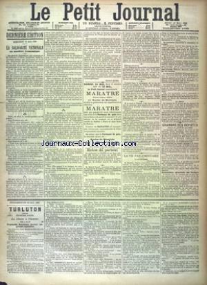 PETIT JOURNAL (LE) [No 9638] du 16/05/1889