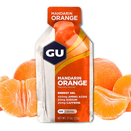 GU Energy Gel Energizante de Mandarina Naranja - Paquete de 24 x 32 gr - Total: 768 gr