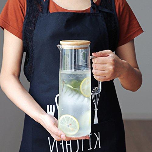 Karaffen,Glaskaraffe Karaffe Glas Hitzebeständig Große Kapazität Teekanne Saftkanne
