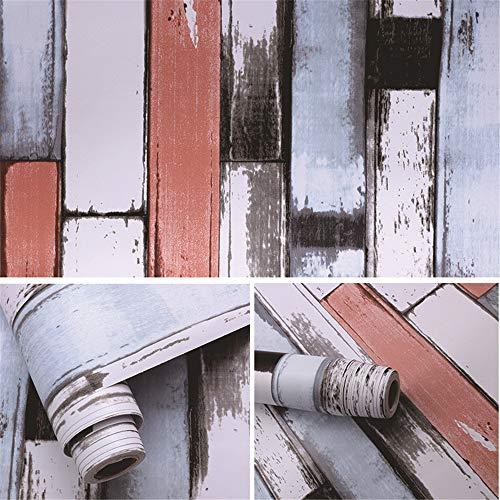 lsaiyy Vintage Wall Brick Wallpaper Stone Wall Stickers College Schlafzimmer Selbstklebende Tapete Schlafzimmer wasserdicht Haftnotiz Tapete-45CMX10M