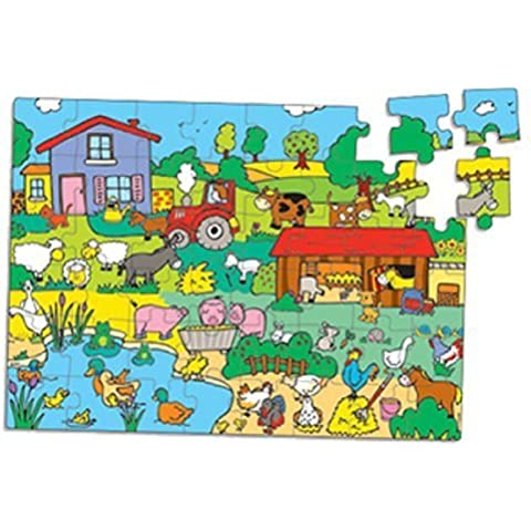 Farm 48 PCS Puzzle in Tractor Box from Vilac by VILAC