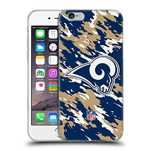 Offizielle NFL Unschärfe Los Angeles Rams Logo Soft Gel Hülle für Apple iPhone 6 / 6s Camou