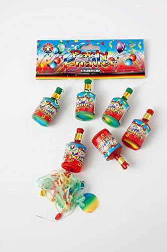 60 Partyknaller Popper Shooter mit Luftschlangenwurf (Konfetti) von Aktivhandel