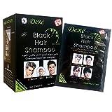 ROMANTIC BEAR Instant Black Hair Shampoo, 5 Minuten färben Haare dauern für einen Monat, natürliche Inhaltsstoffe Black Hair Produkte für Männer und Frauen (1 Pack = 25ml10 Pcs)