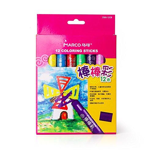 Twistables Marker (12 Farben Wachs Buntstifte hoch pigmentiert Non Toxic Kunst Wachsmalstifte für Kinder Chubby Short Stubby Crayon Marker Pen - Keine Notwendigkeit Anspitzer)