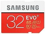 Marke neue Samsung EVO PLUS 32GB microSDHC Class 10UHS Speicherkarte bis zu 80Mbps–frustrationsfreie Original Samsung Verpackung–ideal Wahl für Smartphones, Tablet, Dash Cams und Action Kameras