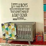 wandaufkleber baumstamm weiß Wandtattoo Zitat kleine Jungen sollten nie ins Bett geschickt werden Wandtattoo Vinyl Aufkleber Kinder Spielzimmer Schlafzimmer Kinderzimmer Home Decor