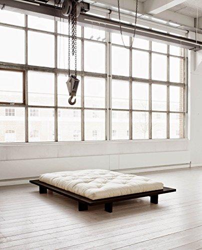 Futonbett Japan Kiefer massiv schwarz 160cm x 200cm