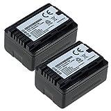2x subtel Batterie premium pour Panasonic HC-V777, -V727, -V160, -V100, HC-V808, HC-VX878, -VX11, HC-VXF11, HC-WXF1, HDC-SD90, -SD40, -SD60, HDC-SDX1, HDC-HS60, HDC-TM60, SDR-H85, SDR-S50, -S70, SDR-T (1500mAh) VW-VBT190 Batterie de rechange, Accu remplacement