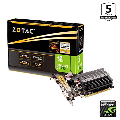 ZOTAC GeForce GT 730 4GB Zone Edition Graphics Card
