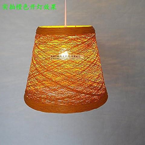 Ancernow E27 cálida moda creativa Iluminación colgante Takuma Sato, 31*H27CM, BLANCO retro manualmente Lámparas de araña para la sala de estar, dormitorio, bar, cafetería, restaurante, corredor, sala de niños