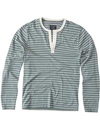 Abercrombie - Homme - Burnout Henley T-shirt Shirt Top - Manche Longue