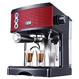 ZMDHL Kaffeemaschine, 1450 W, halbautomatische Espressomaschine 15Bar, 1,7 l (schwarz)