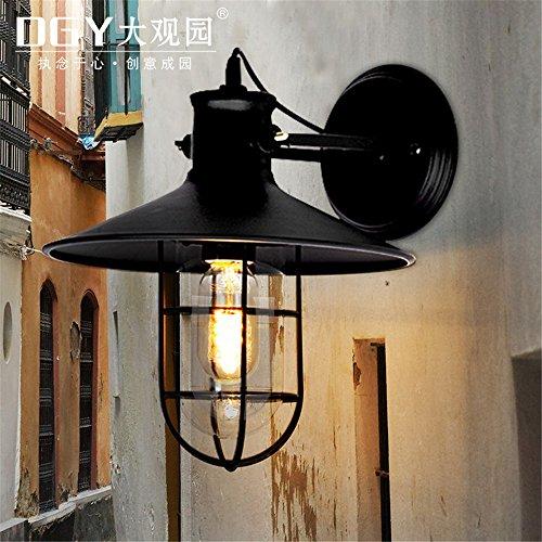 Moderne Applique LED Applique murale Rétro lampe murale industrielle bar café allée allume extérieur lampe de mur cage imperméable loft de fer (27 * 28cm) Moderne Applique 7W Applique。