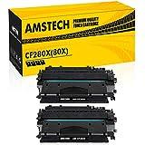 Amstech 2Pack Kompatibel für HP CF-280X CF280X 80X CF280A 80A Toner für HP Laserjet Pro 400 M401dne M401dn MFP M425dn M401 M425 HP Laserjet P2055dn P2055d P2055x HP M401a M401d M401n M401dw Printer