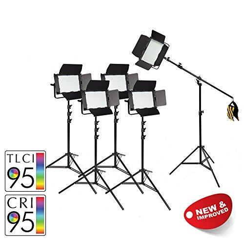 PIXAPRO VNIX1000S 5-Punkt LED Kontinuierliche Beleuchtung Interview Grüne Leinwand YouTube Video Dimmbar Tageslicht Lichter DMX Output CRI>95 2 Jahre UK Garantie uk Lager STEUERNUMMER Registriert (Studio-beleuchtung Kontinuierliche)