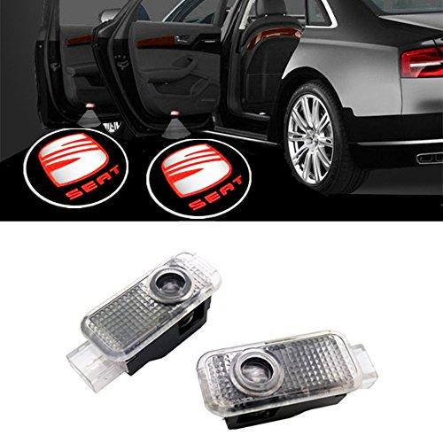 Huayin 2 pièces porte de voiture LED de voiture Ghost Shadow Logo lumière de porte d'entrée d'éclairage lumière lampe de lumiè