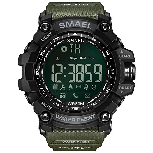 ZHRUIY Armbanduhren ZH-007 Unterstützen IOS, Android Bluetooth Zahlen und Zeiger Sport im Freien Multifunktional Smart Tragbares Gerät 50M Wasserdicht Schrittzähler