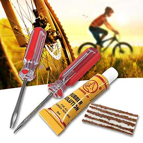 Duk3ichton Daumen hoch Professionelle Fahrrad Tubeless Reifen Reifenpanne Stecker Reparatur Kit Werkzeug