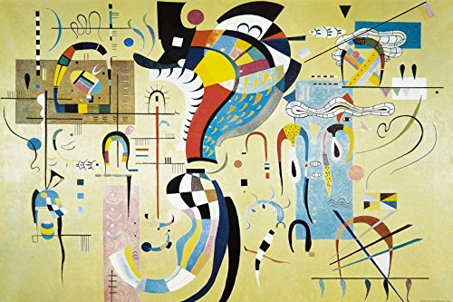 Wassily Kandinsky - Milieu Accompagné, 1937 Carta da Parati Adesiva (180 x 120cm)