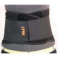 NMT Cintura lombare, fisioterapia, nero, regolabile, per scoliosi, correttore di postura per uomo e donna - Kit Muscle Car