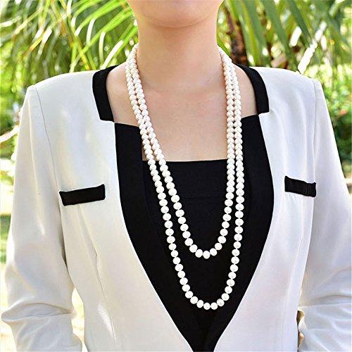 Pull Robe longue chaîne Pearl bracelet accessoires tous-match déco minimaliste et multicouches, 10 mm-48 cm de diamètre circle