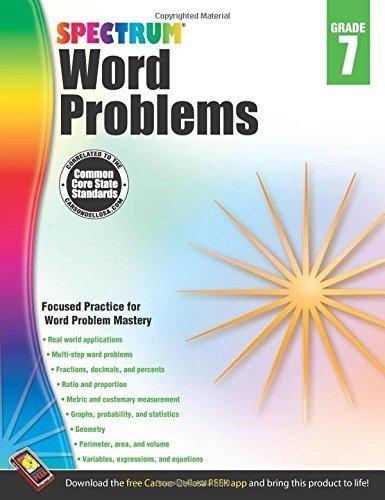 Word Problems, Grade 7 (Spectrum) (2013-12-02)