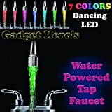 Gadget Hero's 7 Color CHanging Led Tap Faucet Glow for Bathroom Kitchen Auto Water Powered