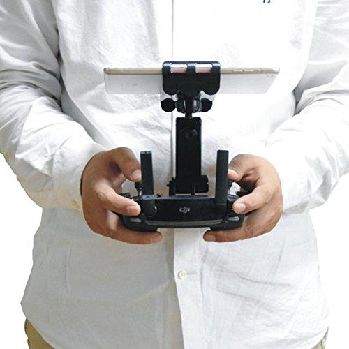 Preisvergleich Produktbild DJI Mavic Pro Faltbar Handy Tablette Halter Einstellbar Verlängert Halterung für 4-12 Zoll Tablette Stand 360 Grad drehbar, Schwarz