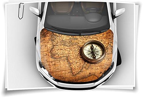 Atlas Kompass Autoaufkleber Airbrush Motorhaube Carwrapping Folie Folierung Rapidair Digitaldruck Luftkanalfolie Aufkleber Auto Tuning (Kompass-folie)