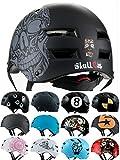 Skullcap® BMX Helm ☢ Skaterhelm ☢ Fahrradhelm ☢, Herren | Damen | Jungs & Kinderhelm, schwarz matt & glänzend (Skull, L (56 - 58 cm))