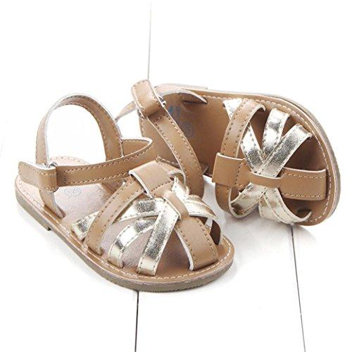 Igemy 1Paar Baby Jungen Sandalen Kleinkind erste Wanderer Mädchen Kinder Schuhe Gold