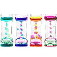 STOBOK 4PCS Oil Hourglass Liquid Motion Bubble Timer Birthday Gift Desktop Ornaments (4PCS)