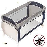 Zamboo Reisebett Insektenschutz Universal | feinmaschiges Moskitonetz für Babybetten, Stubenwagen oder und Laufstall - Grau