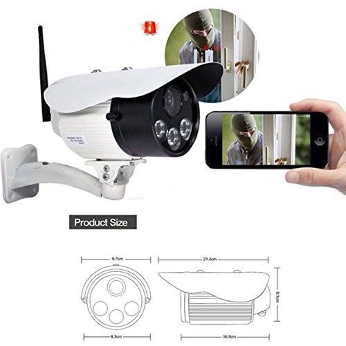Preisvergleich Produktbild Wifi Kamera Handy & Sicherheitskamera Schwenkbar,  IP Cam Handy / Dome Kamera Annke IP Kamera Ton,  Video-Wiedergabealarm - 32GB TF Speicherkarte