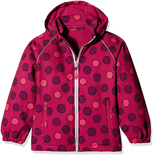 NAME IT Mädchen Jacke NITALFA Softshell Jacket Fuchs DOT MZ FO 13138285, Gr. 122, Rosa (Fuchsia Purple) -
