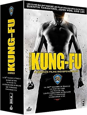 Les Maîtres du Kung-Fu, 6 grands films indispensables: La 36ème chambre de Shaolin + La rage du Tigre + La main de fer + Les 8 diagrammes de Wu-Lang + Les 14 Amazones + L'hirondelle