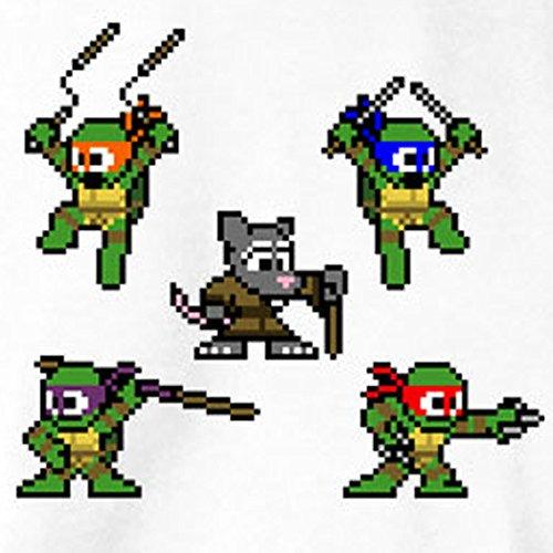 TEXLAB - Pixel Turtles - Langarm T-Shirt Schwarz