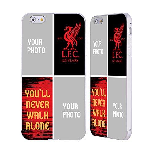 Personalizzata Personale Liverpool Football Club Geometrico Rosso 2017/18 Argento Cover Contorno con Bumper in Alluminio per Apple iPhone 5 / 5s / SE Youll Never Walk Alone