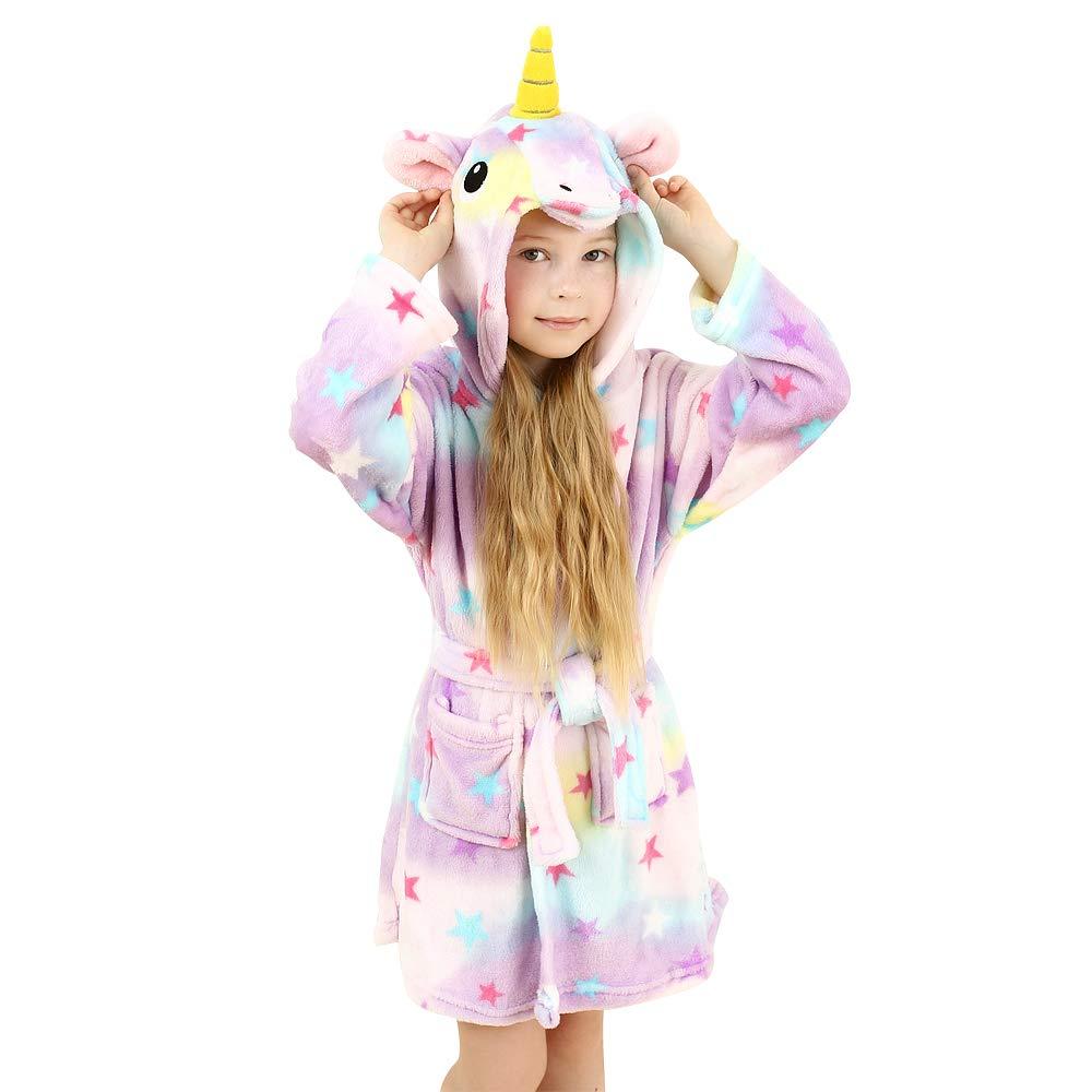 wgde toy Pyjama de Peignoir /à Capuchon Licorne Jouets et Cadeaux